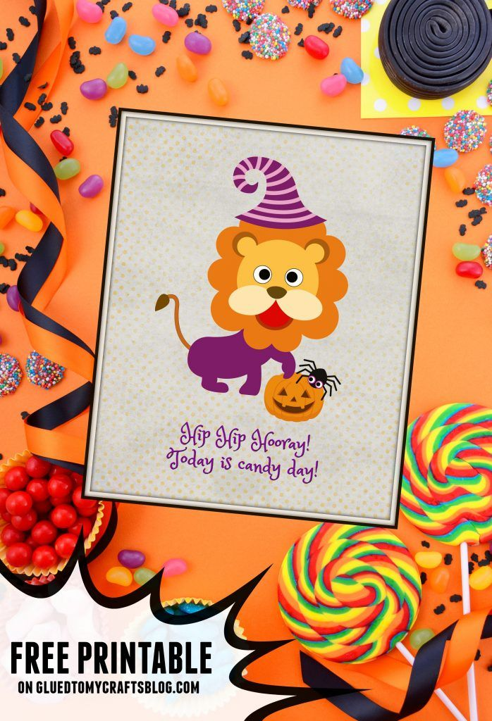 Candy Day - Halloween Card Printable Simple gifts, Crafty and Craft - free halloween decorations printable
