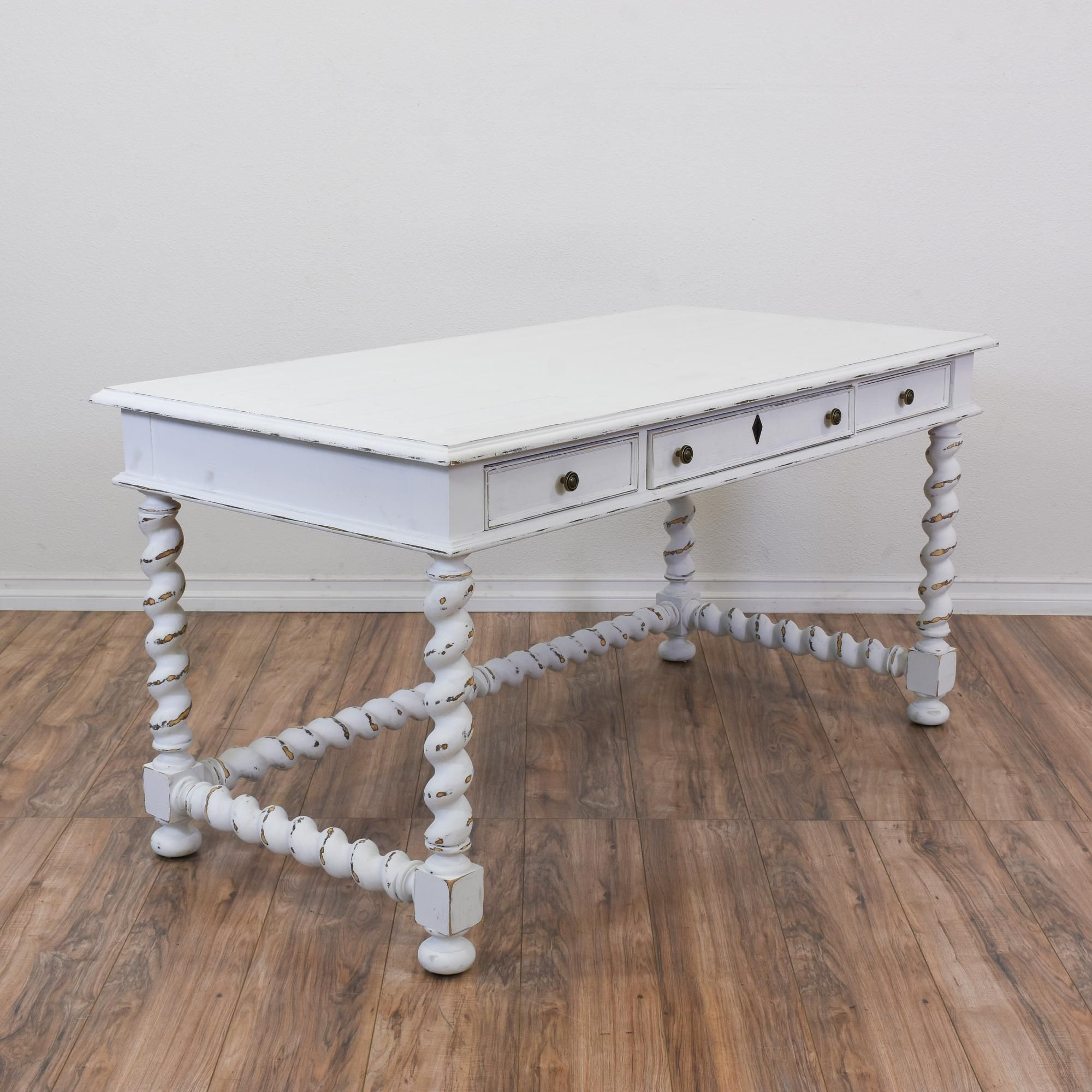 This Stanley Shabby Chic Desk Is Featured In A Solid
