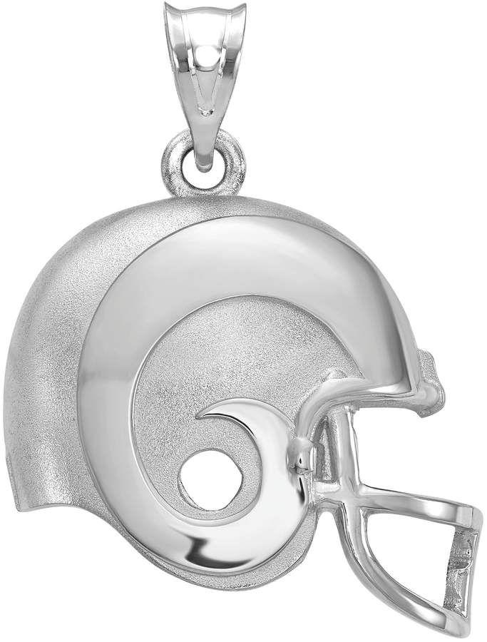 925 Silver Laser-cut University of Louisville Football Helmet w//Logo Pendant