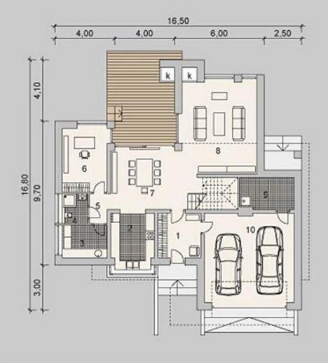 planos-de-casas-modernas-de-dos-pantas-con-4-habitaciones ...