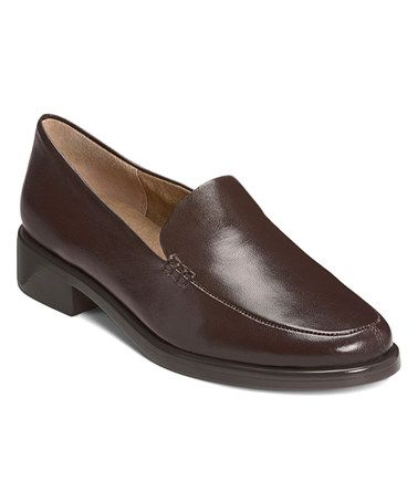 Dark Brown Wish List Leather Loafer #zulily #zulilyfinds