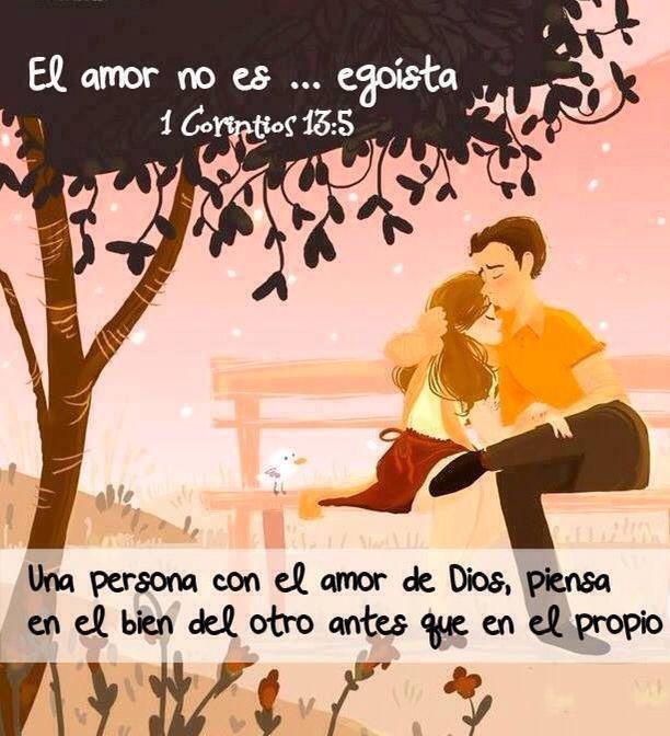 el amor no es egoísta una persona con el amor de dios piensa en el