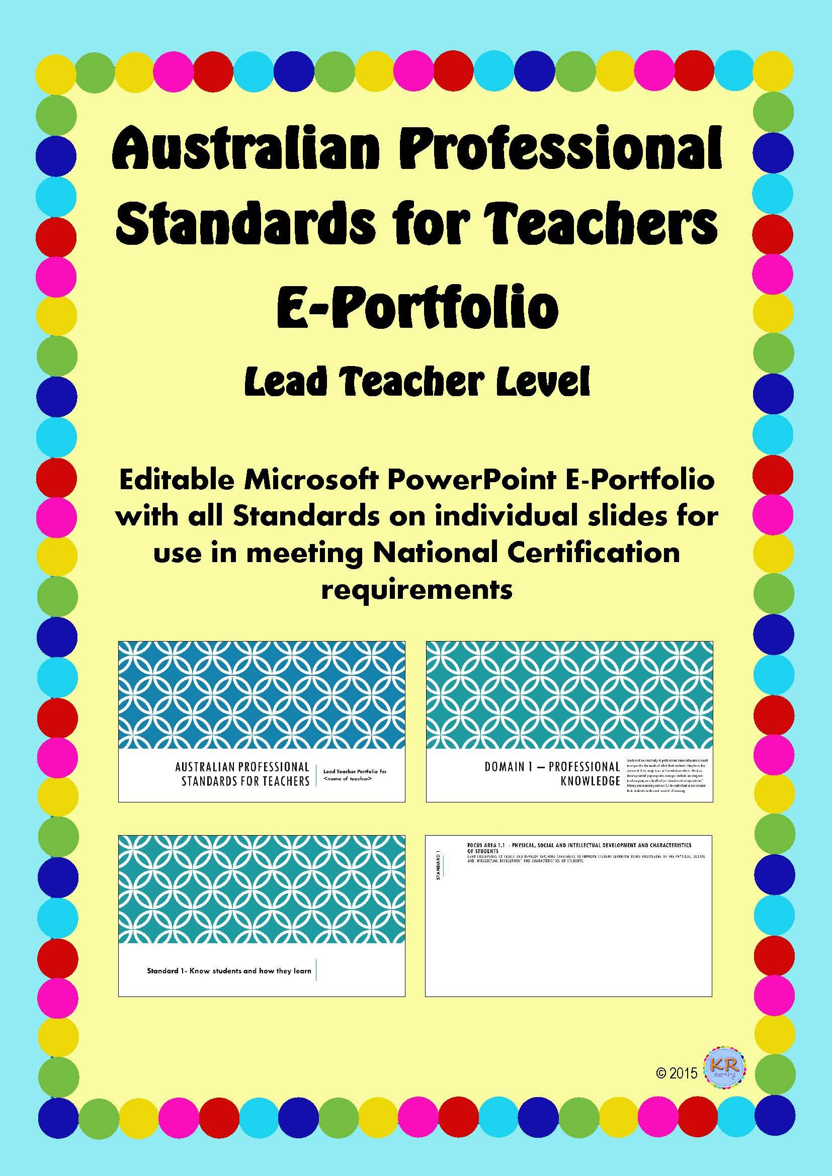 Lead Teacher Level Australian Professional Standards For Teachers