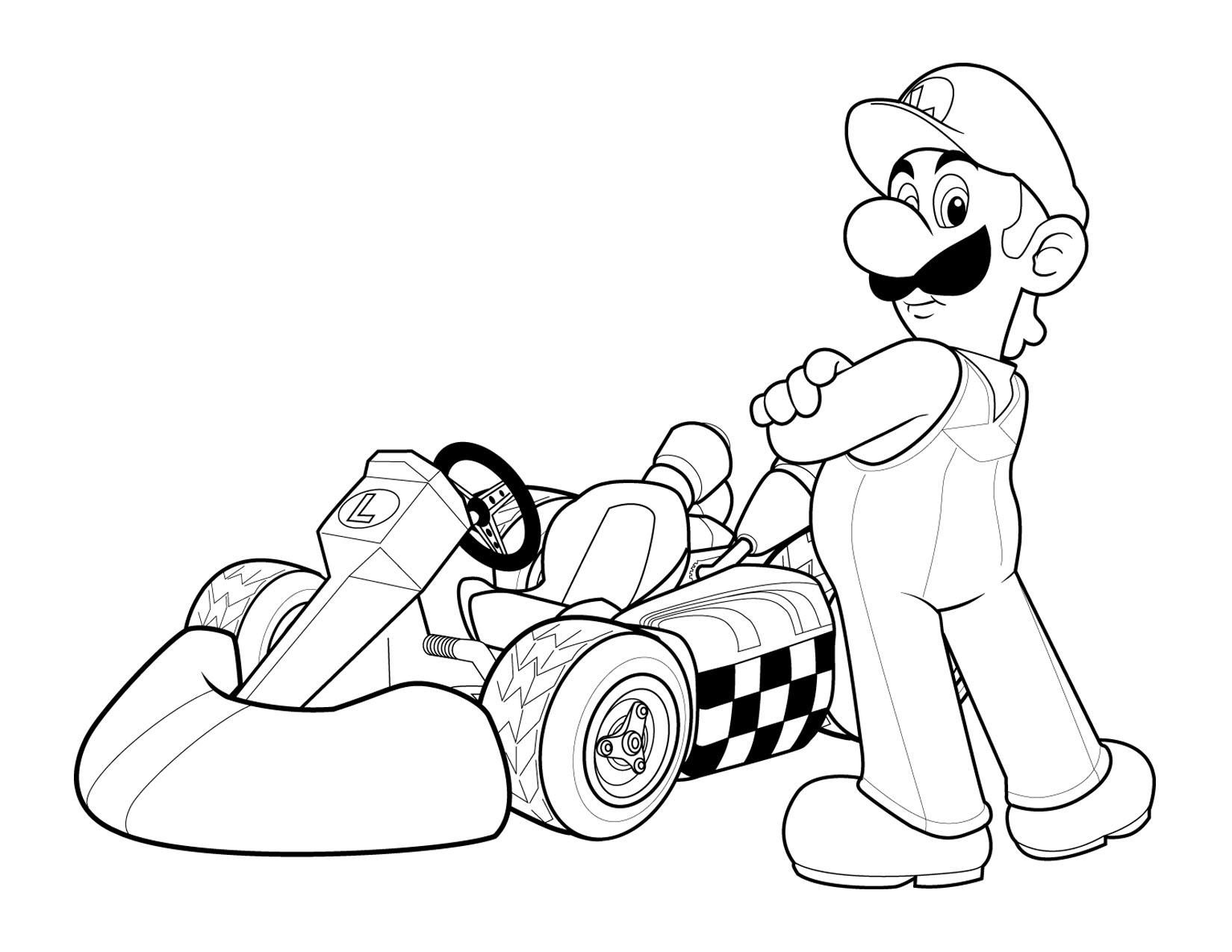 Free Printable Mario Coloring Pages For Kids Coloriage Mario Coloriage Mario Kart Coloriage