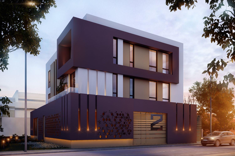 600 m private villa abu fatira kuwait sarah sadeq for Modern house design kuwait