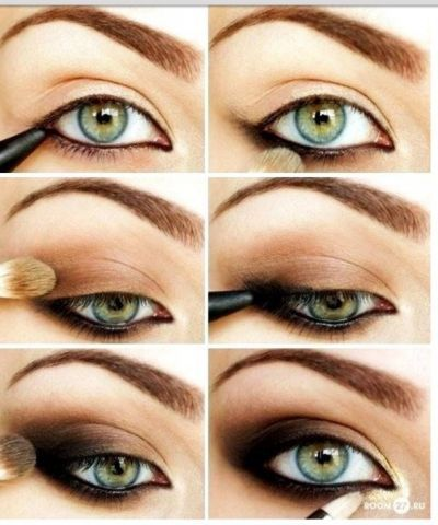 Great brown eye makeup - how to