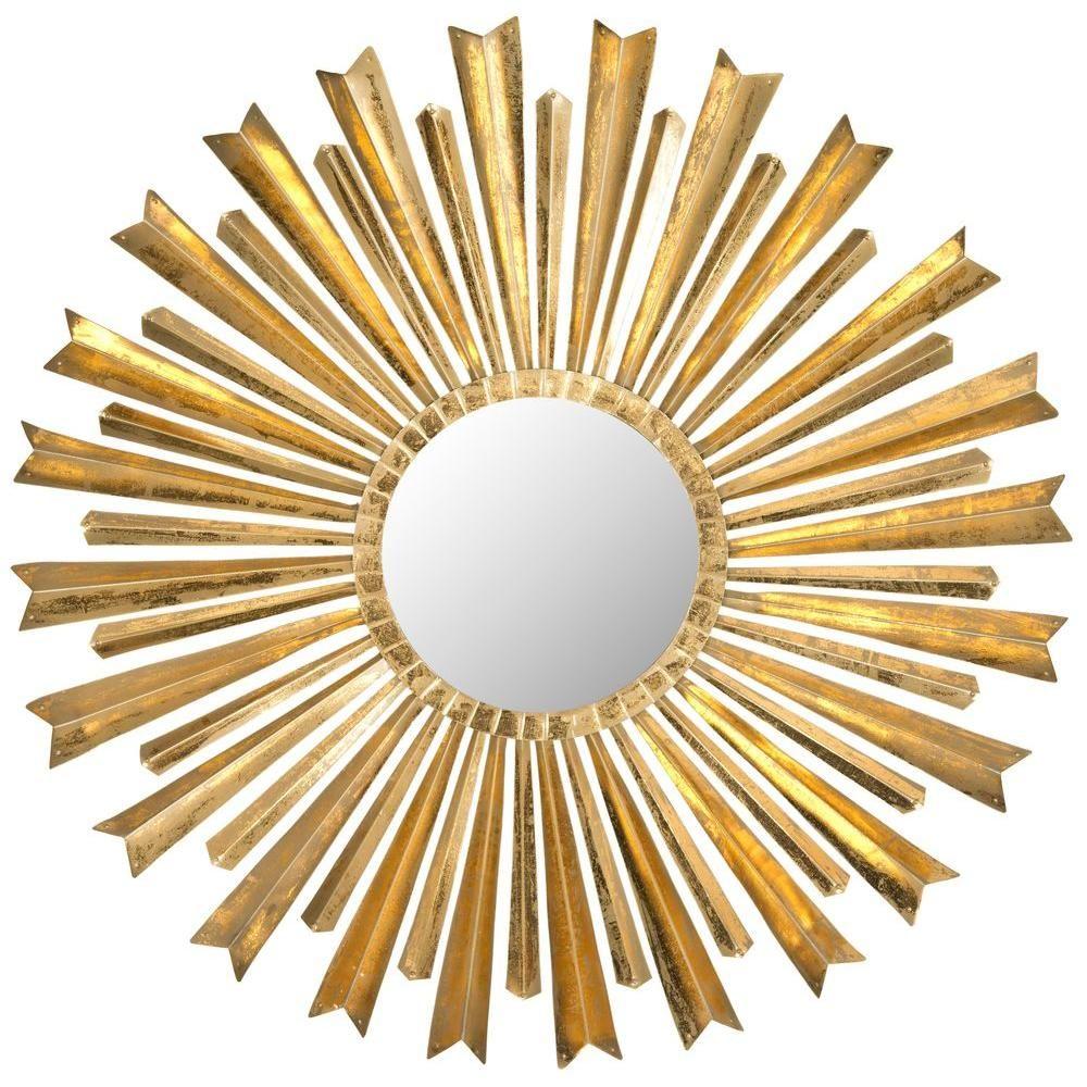 Golden Arrows Sunburst 33 in. x 33 in. Framed Mirror | Arrow ...