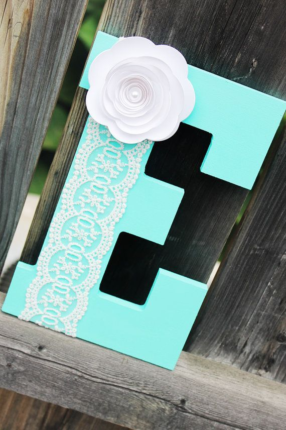 Letter E - Baby Boy - Nursery Decor - Aqua