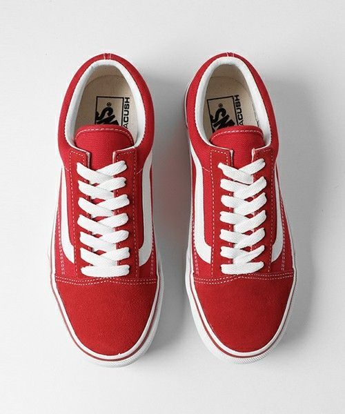 2zapatos vans rojos niña