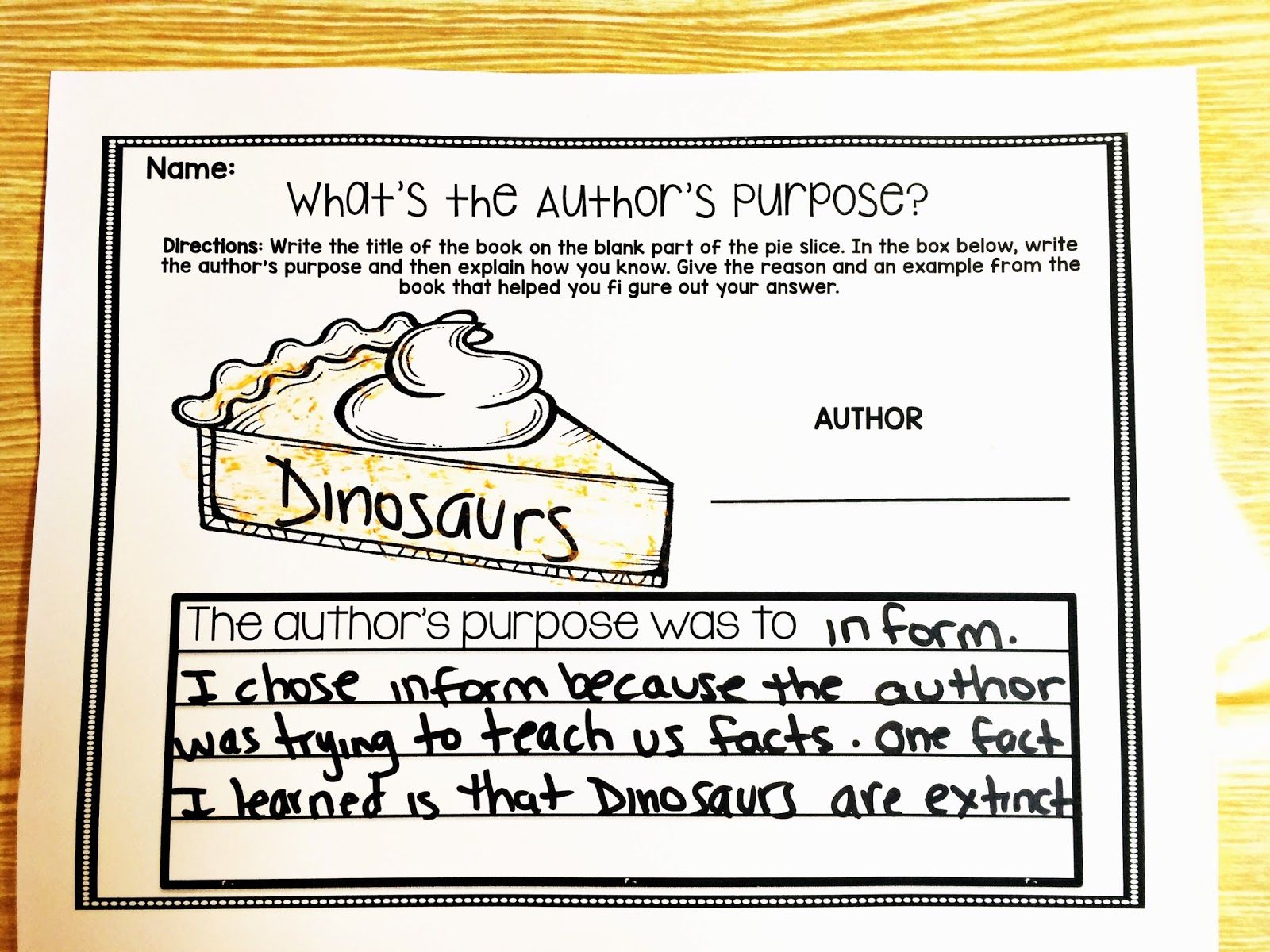 Image Result For Author S Purpose Book Examples 2nd Grade