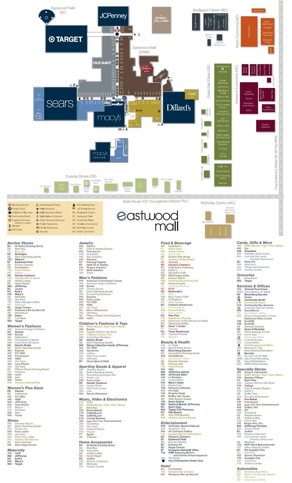 Eastwood Mall Ohio Shopping Plan Mall Ohio Mall Gifts
