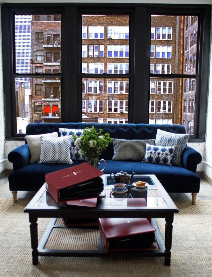 Mr Boddington\u0027s Studio Blue Couch For my apartment Pinterest