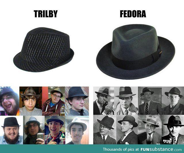 A neckbeard wear a trilby, not a fedora