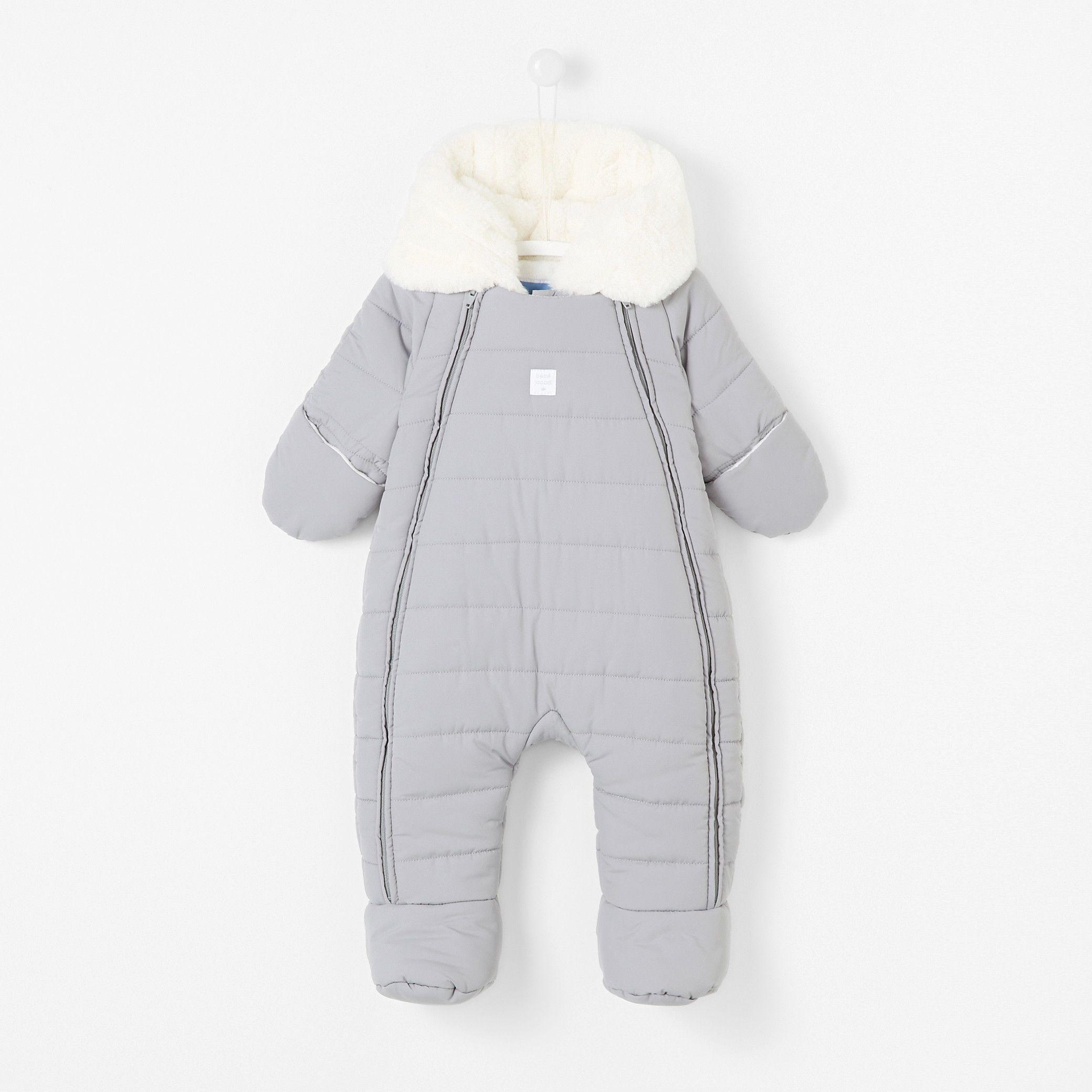 Mamum Nouveau-n/é b/éb/é gar/çon Fille Hiver Combinaison Polaire Capuche Barboteuse Manteau Chaud Outwear