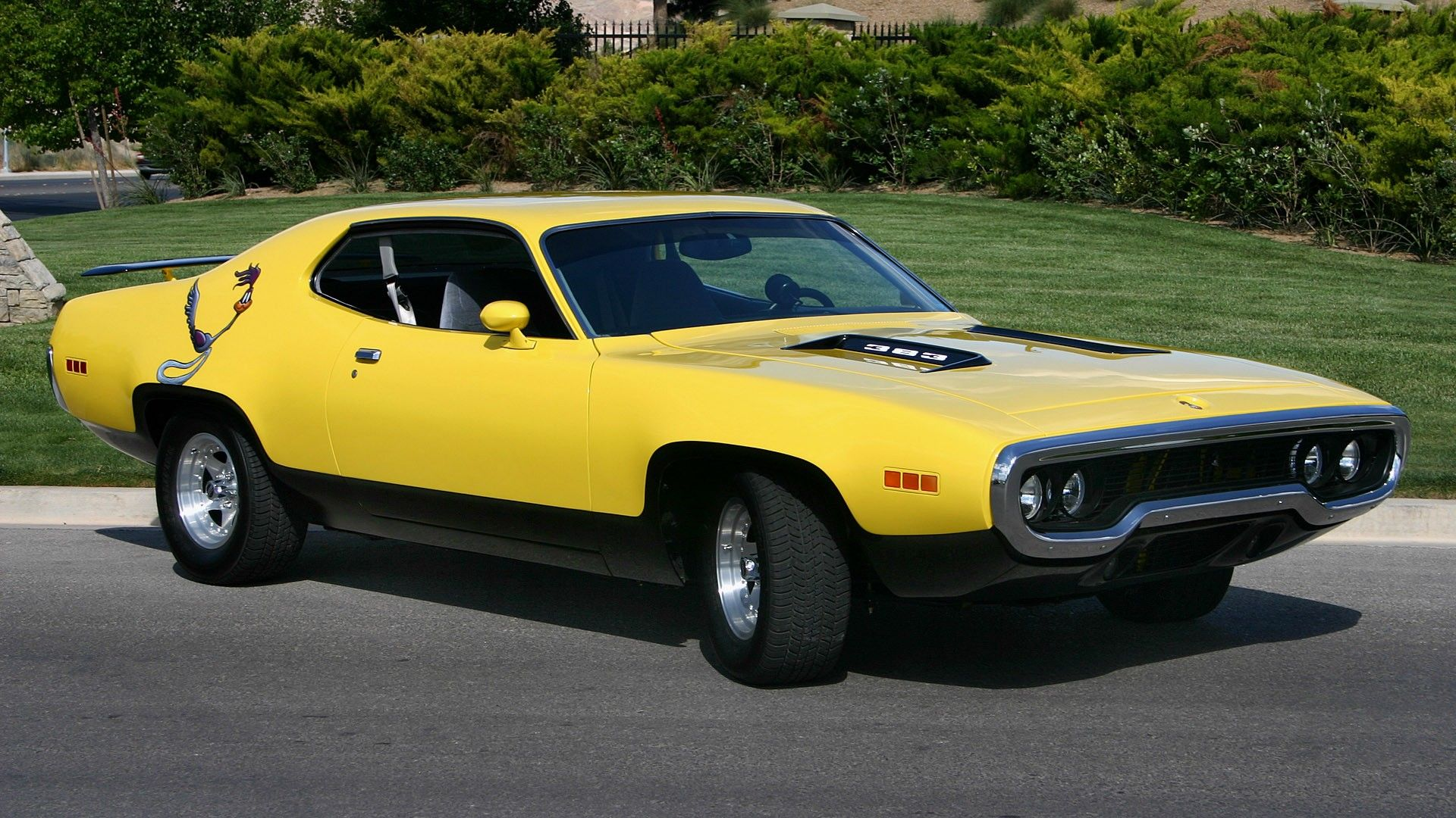 cars Plymouth 1973 roadrunner automotive muscle car - Wallpaper ...