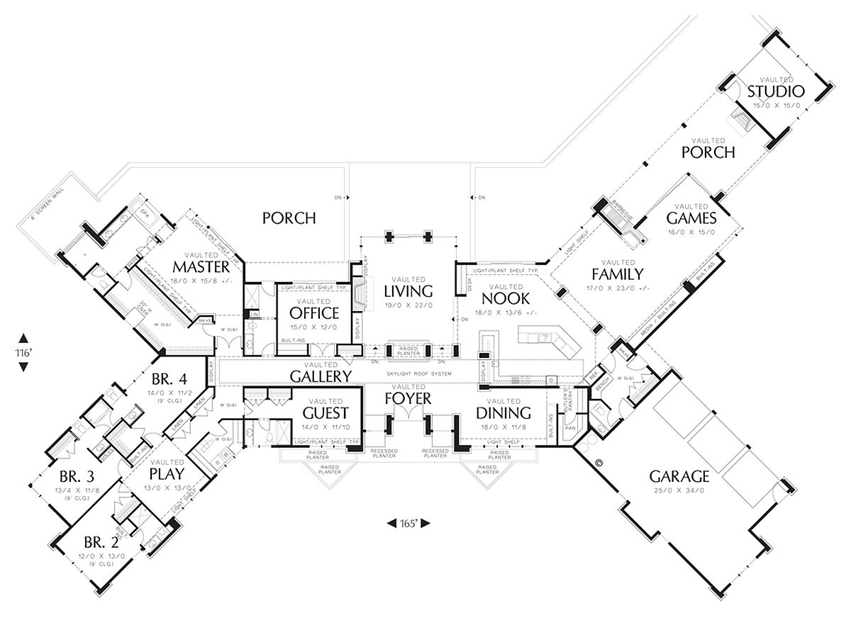 Ranch style house plan 5 beds 5 5 baths 5884 sq ft plan for Big ranch house plans