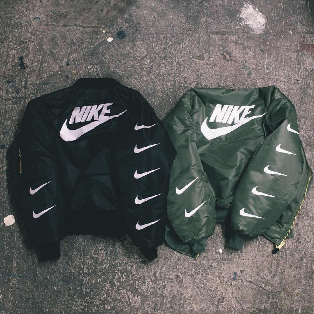 "cf2b1ec879 HYPEBEAST on Instagram  ""The original Nike x Alpha Industries MA-1 flight  jacket by  mikecherman for  ellington."""