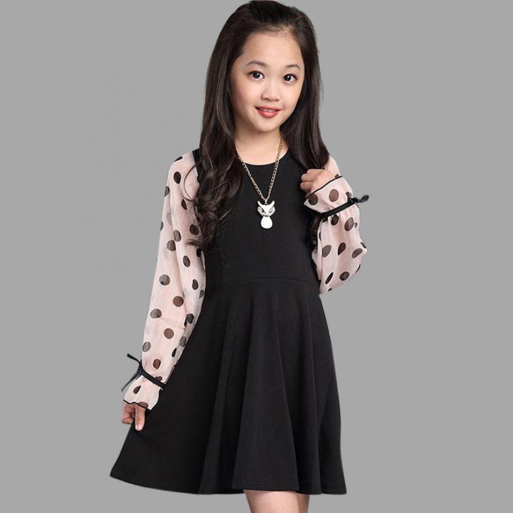 Kids Girl Casual Dresses Polka Dot Costume 4 14 Year Kids Summer Dresses Girls Dresses Summer Girls Spring Dresses [ 1000 x 1000 Pixel ]