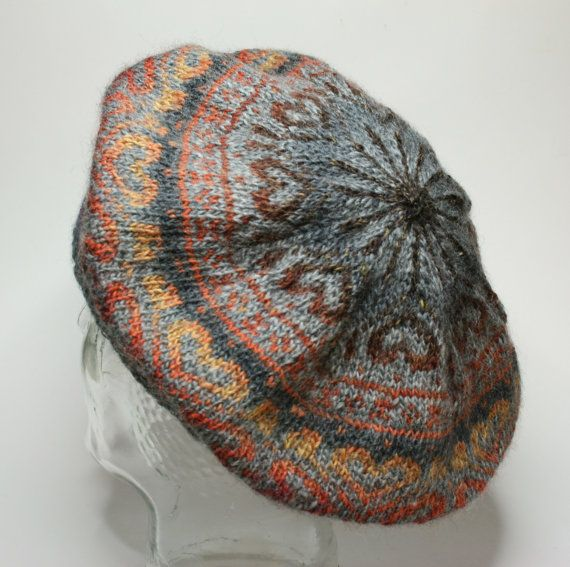 Fair Isle beret handknitted Tam wool. by Coonstuff on Etsy, $45.00 ...