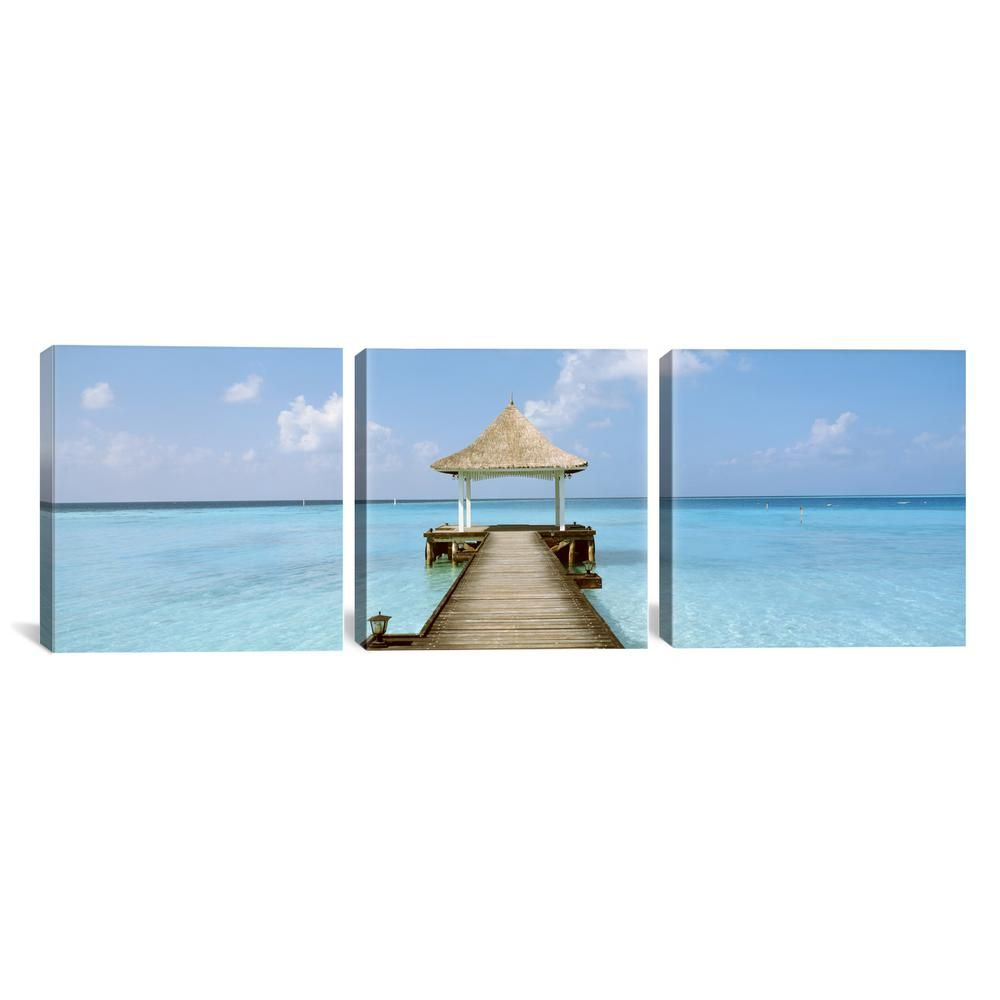 icanvas beach pier the maldives by panoramic images on icanvas wall art id=73124