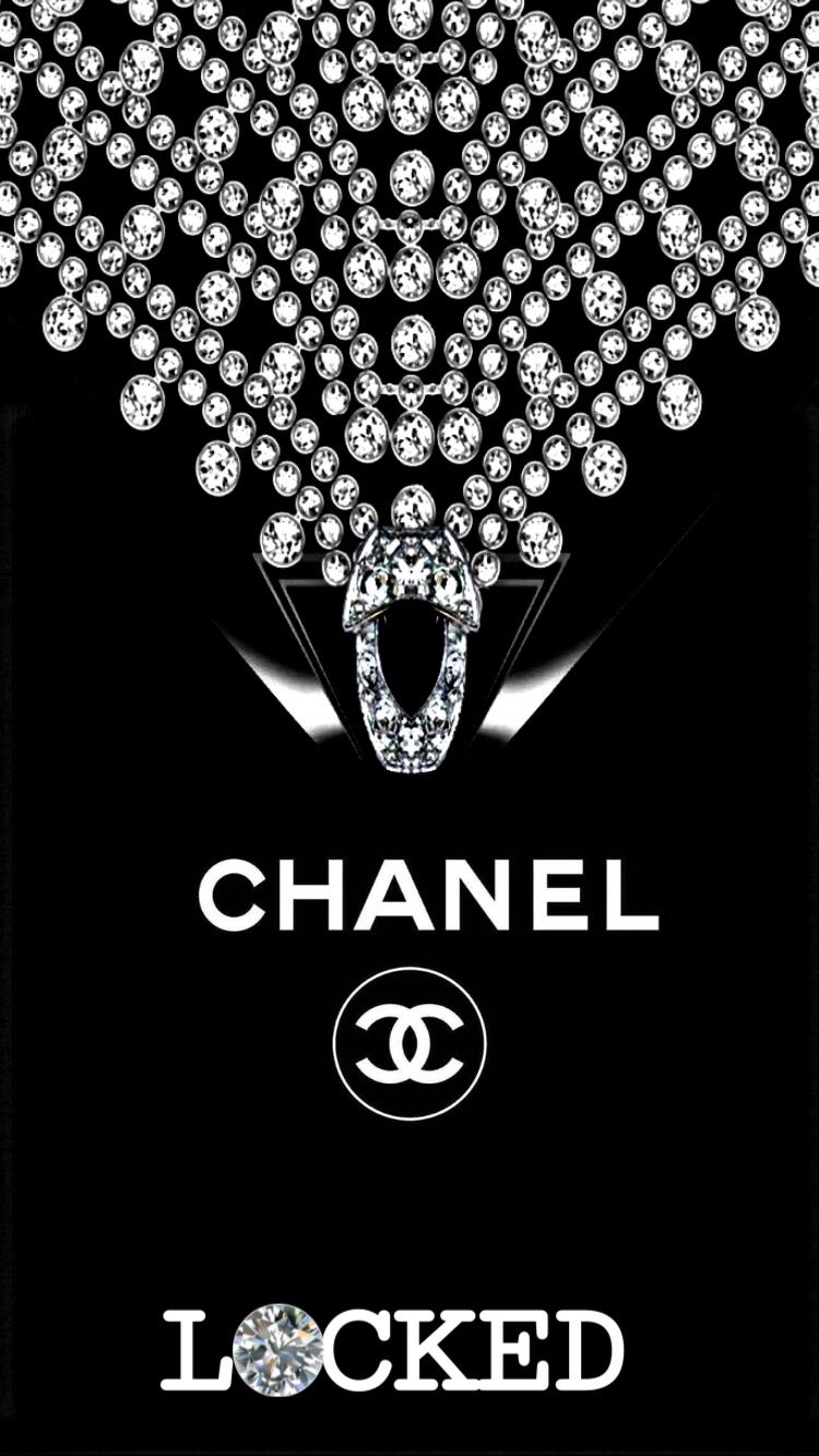 CHANEL & DIAMONDS 💖🖤 Chanel wallpapers, Coco chanel