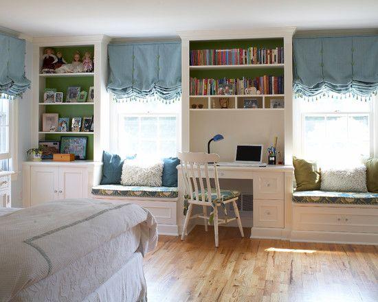 Furniture Inspiring Built In Desk Plans For Traditional Kids