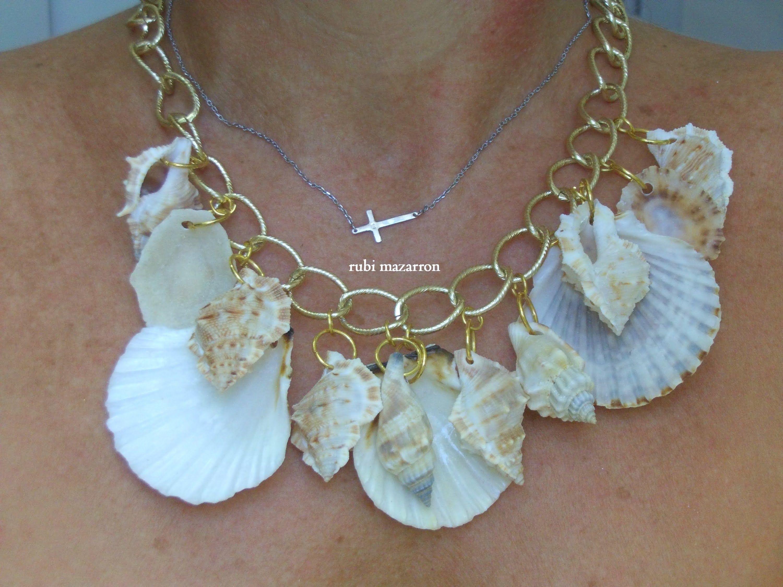 Diy collar caracolas del mar youtube rubimazarron - Como hacer conchas finas ...