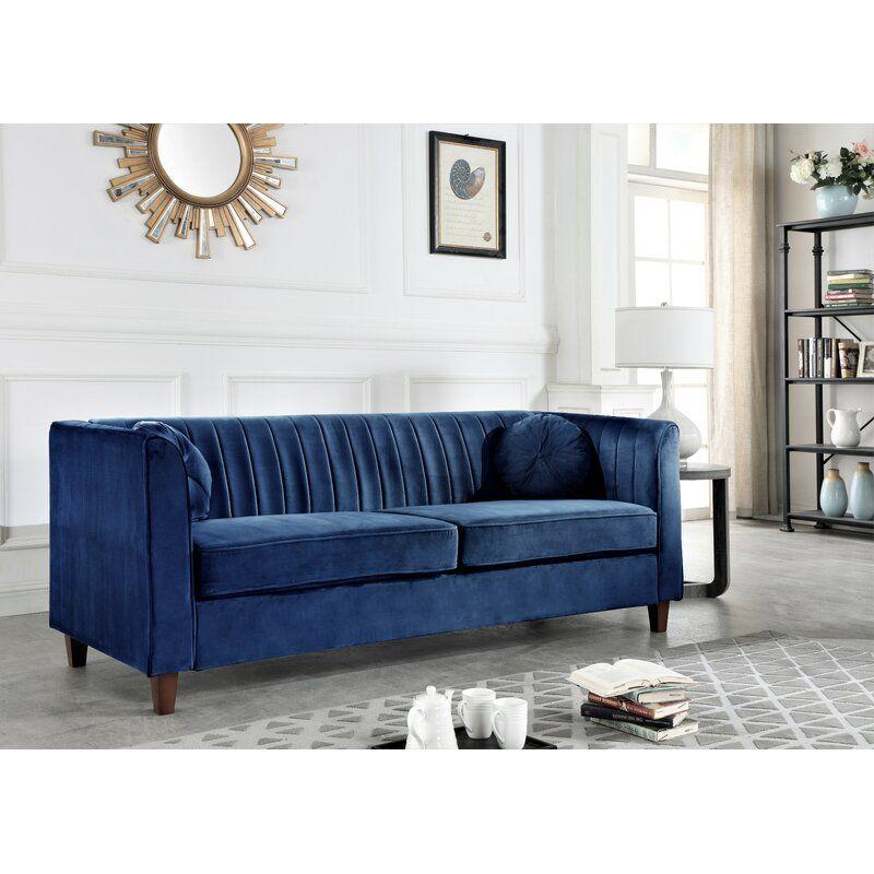 Arvilla Dark Blue Chesterfield Sofa Walmart Com Classic Chesterfield Sofa Chesterfield Living Room Blue Chesterfield Sofa