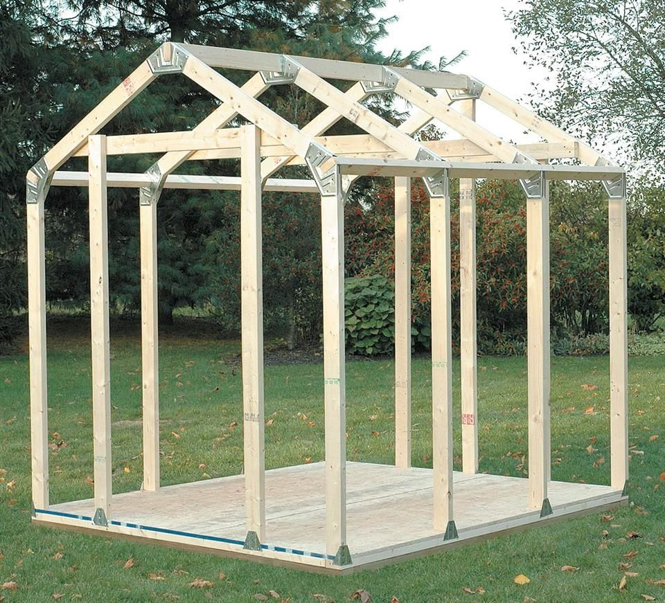 2x4basics diy outdoor storage shed connecter kit with peak roof