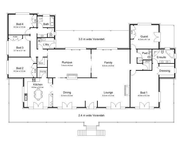 The rawson australian house plans the most gorgeous for Queenslander floor plans