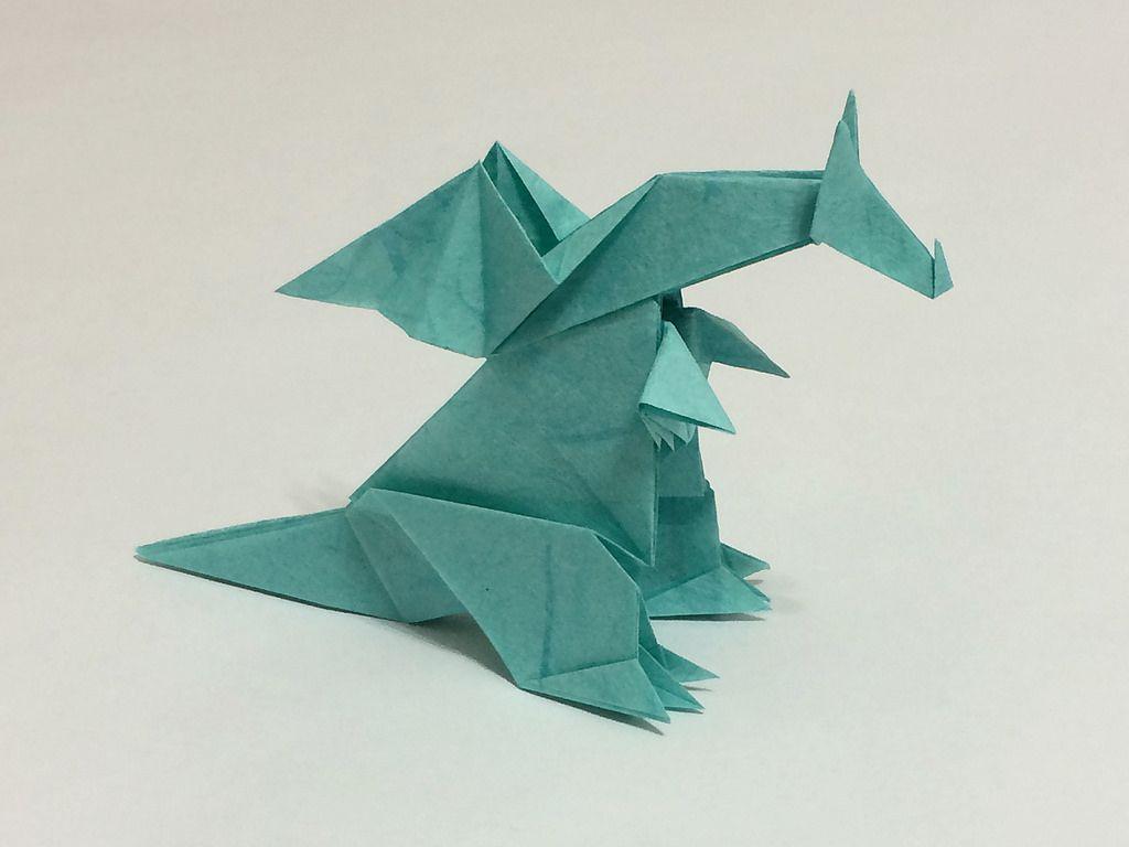 T21 model 3057 dragon by hideo komatsu by mrorigami origami jeuxipadfo Image collections