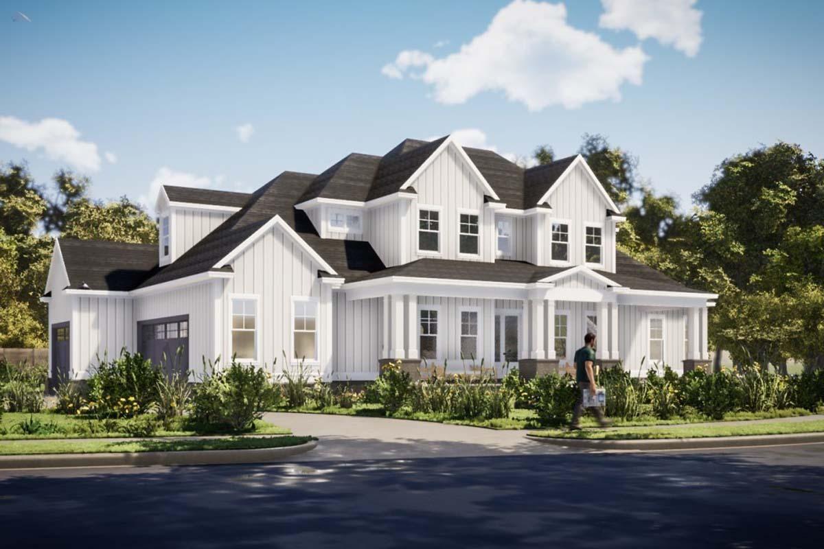 House Plan 1070-00268 - Modern Farmhouse Plan: 3,3