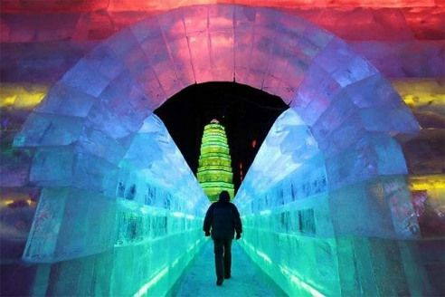 Majestic Sculptures From The Harbin International Ice And SnowFestival Heilongjiang China