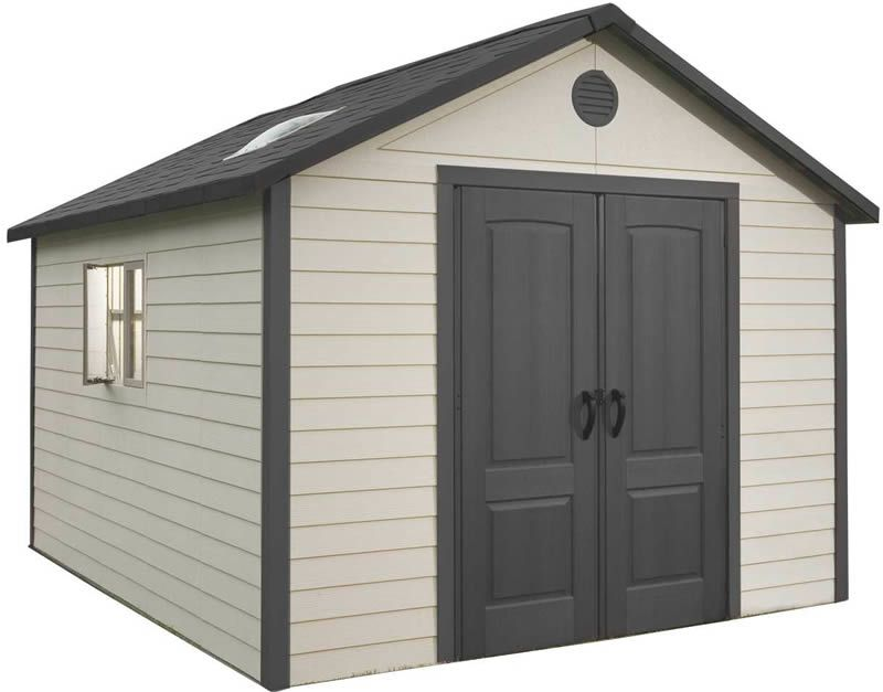 Lifetime 11x11 Plastic Storage Shed With Floor 6433 Plastic Storage Sheds Outdoor Storage Sheds Storage Shed Kits