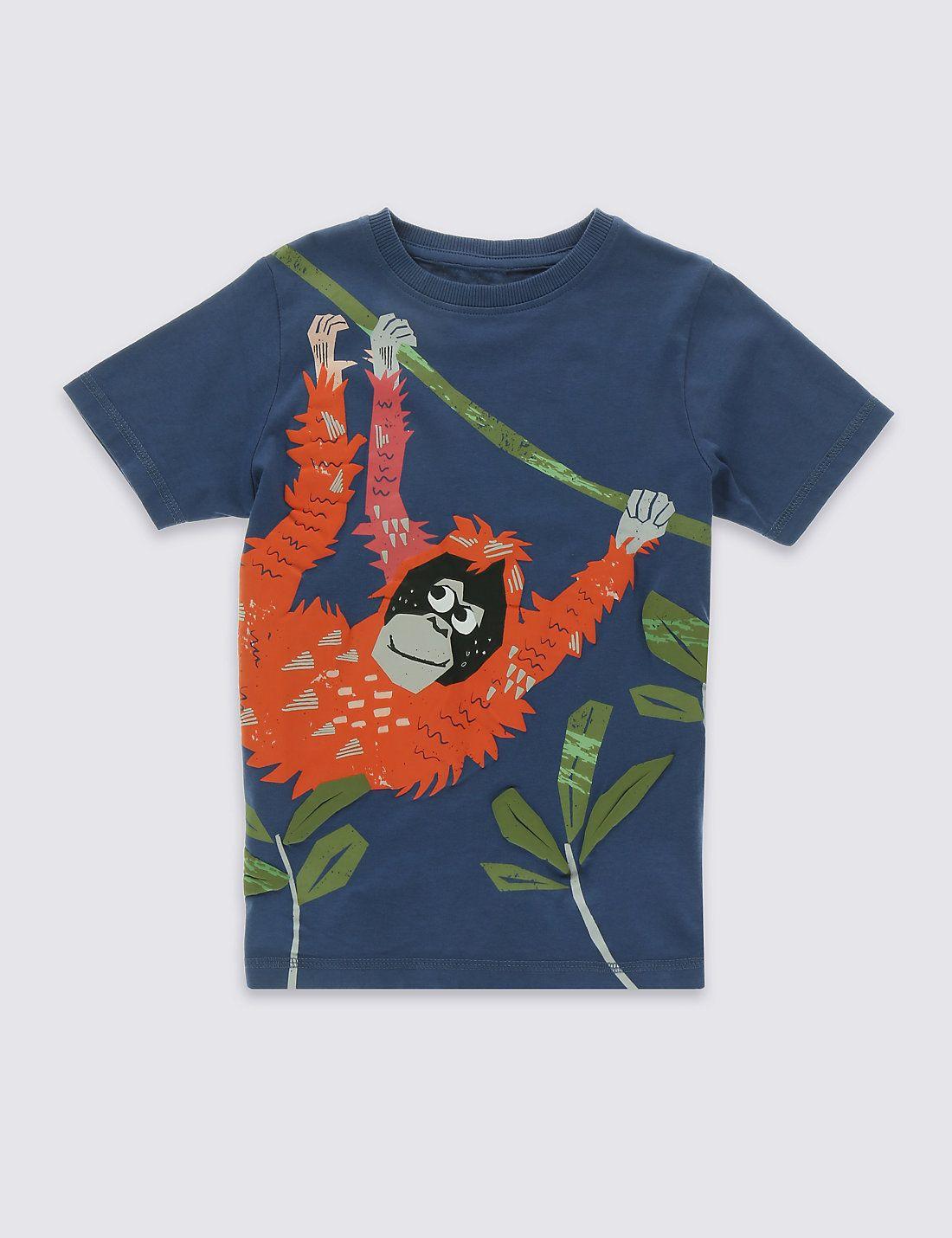Pure Cotton Orangutan Print TShirt (17 Years) Download