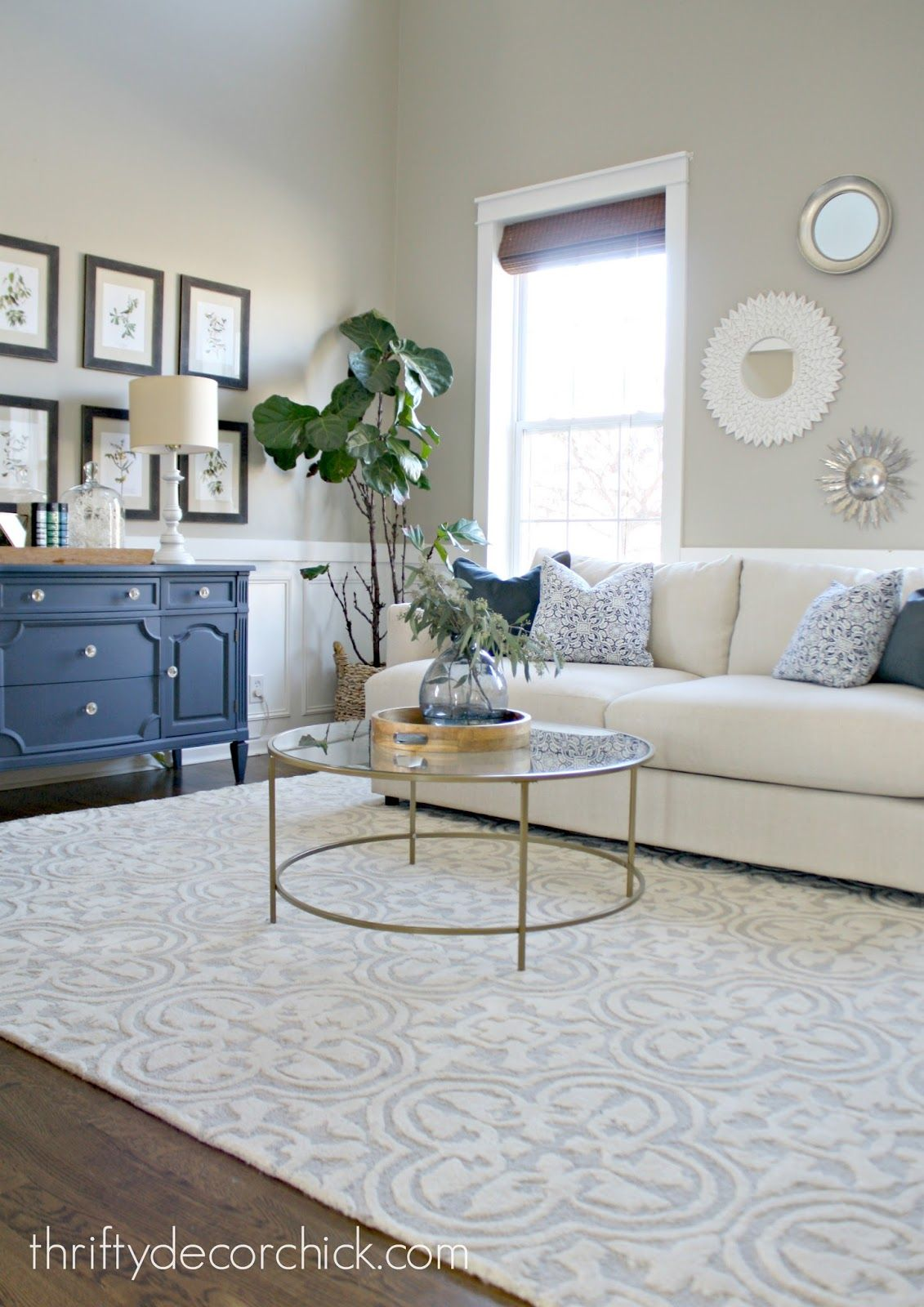 When In Doubt Add Some Circles Beige Living Rooms Living Room