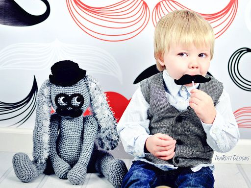 Sunny the Sleepy Bunny Security Blanket PDF Crochet Pattern