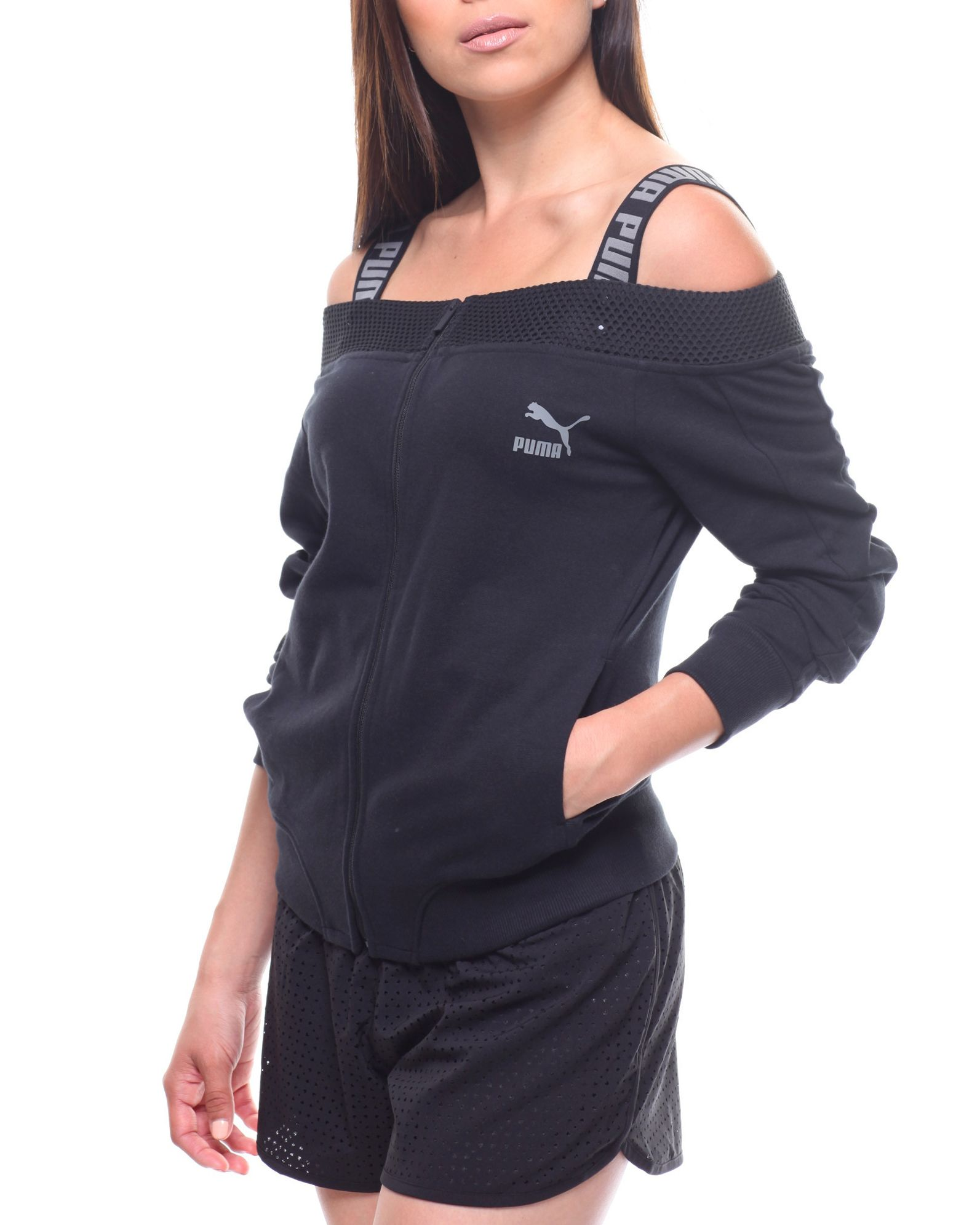 Off The Shoulder T7 Jacket Women S Outerwear From Puma Find Puma Fashion More At Drjays Com Outerwear Women Clothes Fashion [ 1991 x 1593 Pixel ]