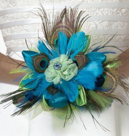 Lillian Rose BQ234 Peacock Bouquet