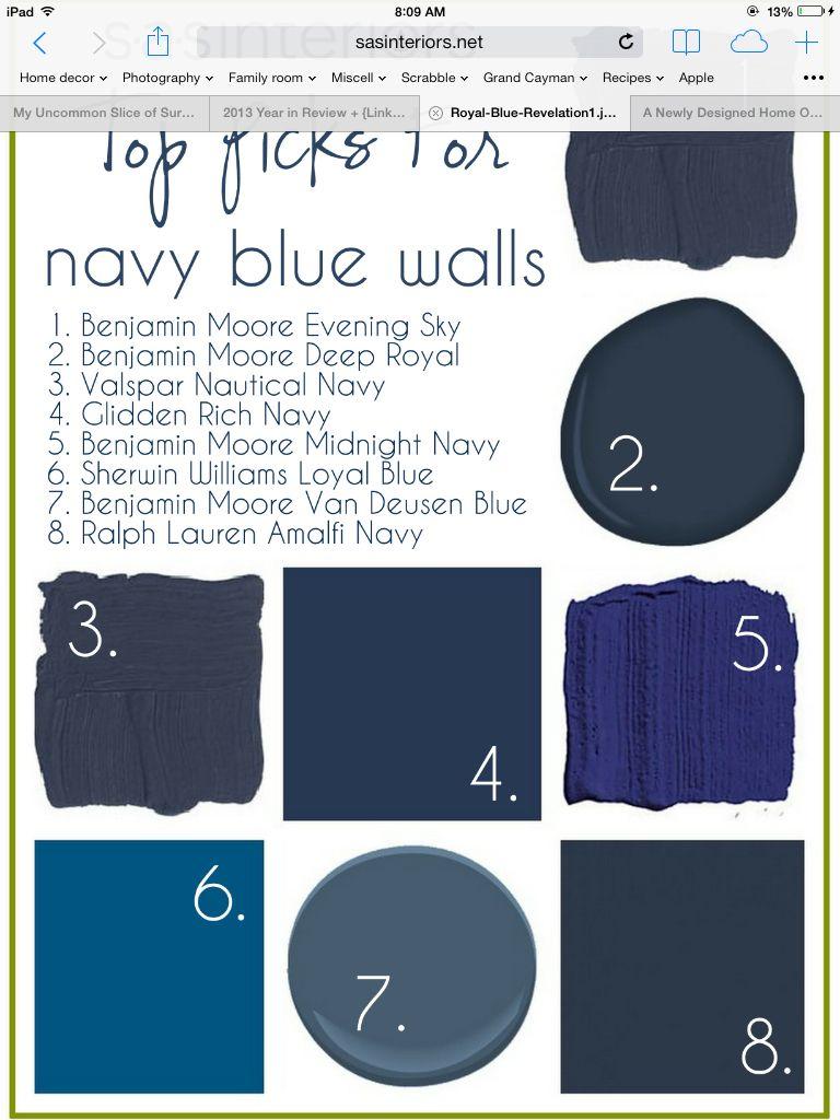 Dark blue paint colors - Blue Paint Colors Like 7 Benjamin Moore Van Deusen Blue Looks More Like