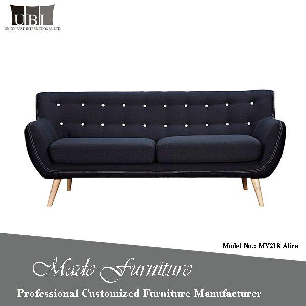 Best Indian Style Solid Wood Sofa Set Dark Blue Fabric Sofa 400 x 300
