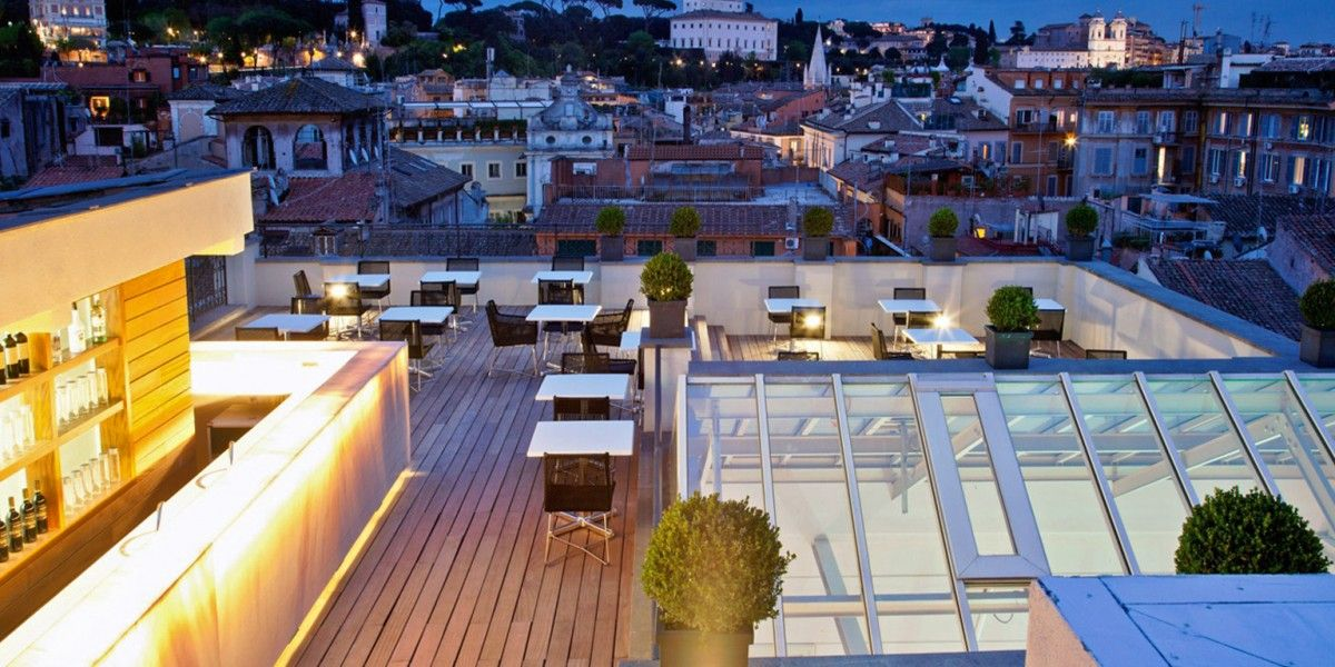 The First Luxury Art Hotel Roma Rome Italy Hotel Roma Rooftop Luxury Art