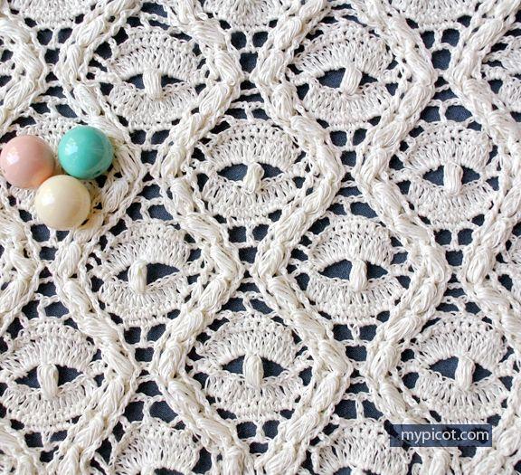 Lace Spider Stitch Mypicot Free Crochet Patterns Crochet