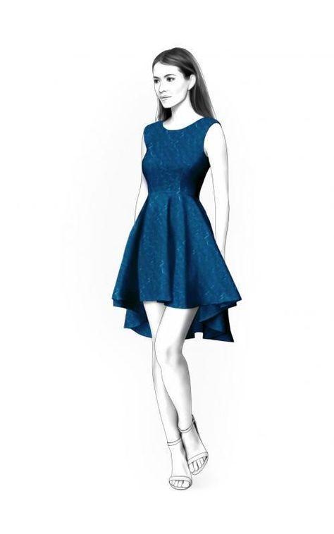 Lekala 4411 - Kleid PDF Muster, Nähmuster PDF, Maßgeschneiderte ...