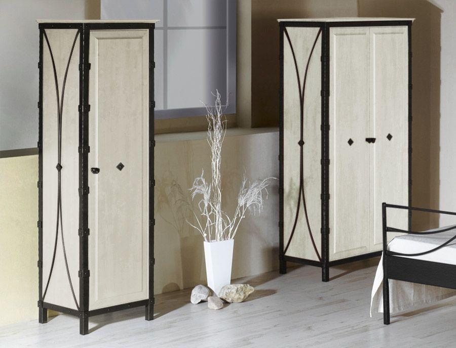 Elegant Rustikale Kleiderschr nke aus handgeschmiedetem Eisen Betten de kleiderschrank rustikal eisen