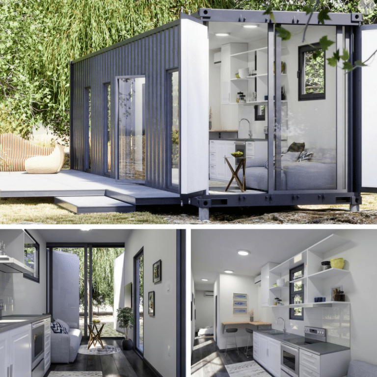 Luckdrops Studio Tiny Container Home The Casa Club Container House Plans Container House Shipping Container