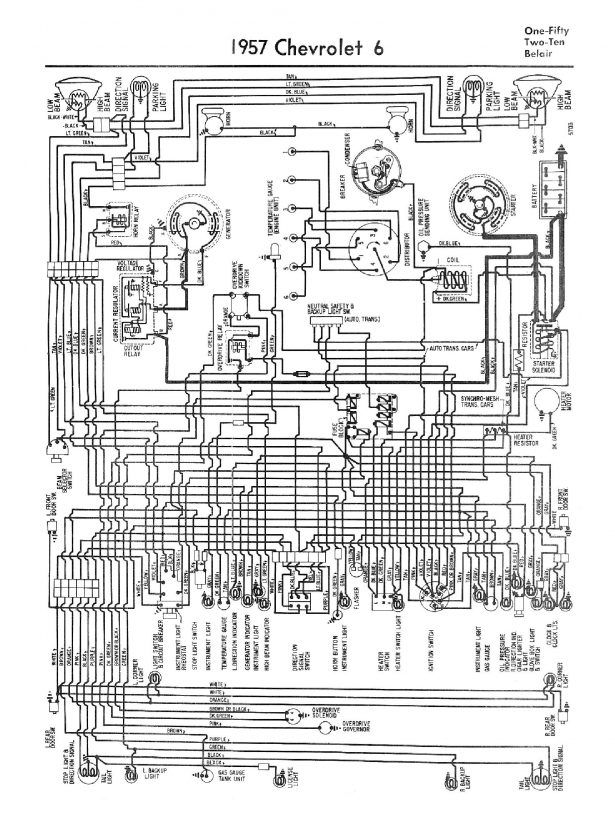 1957 Chevy Electrical Wiring Diagrams Fuse Box And
