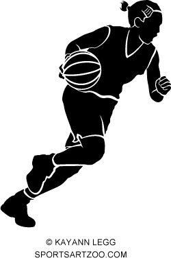 Girl Basketball Dribble Silhouette Sportsartzoo Basketball Girls Basketball Dribble Basketball Silhouette