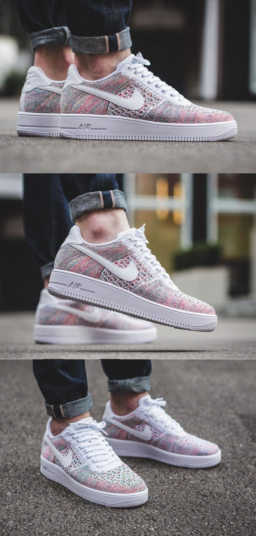 e3514bcba29 Nike  Air  Force  One  Flyknit  Low  Yellow  Strike store.nike.com ...