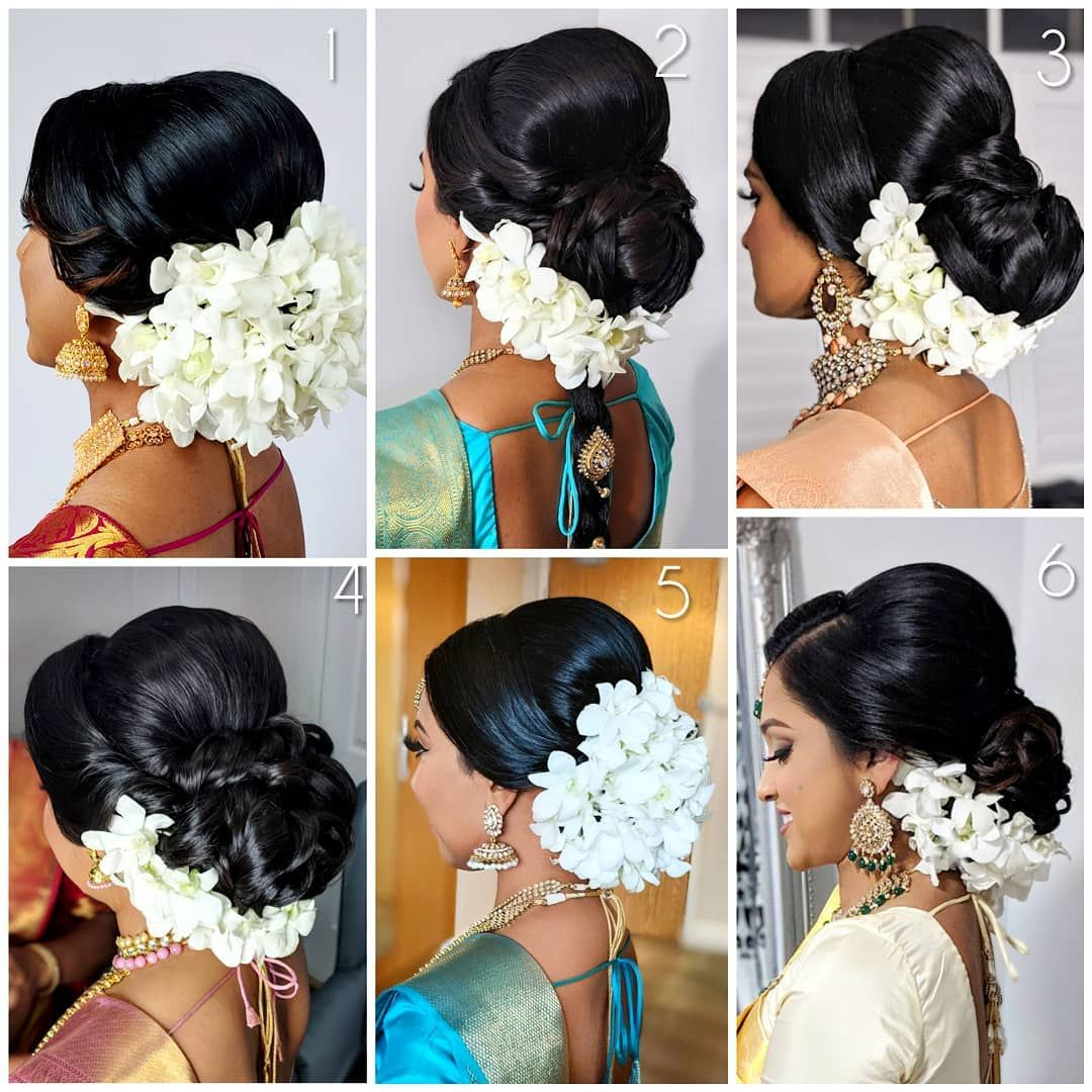 Anandas Ca Had A Busy 2018 I Love Wired Orchids As An Alternative To Jasmine Flowers Hairstyle Bridal Bridal Hair Buns Bridal Hairdo Bride Hair Flowers